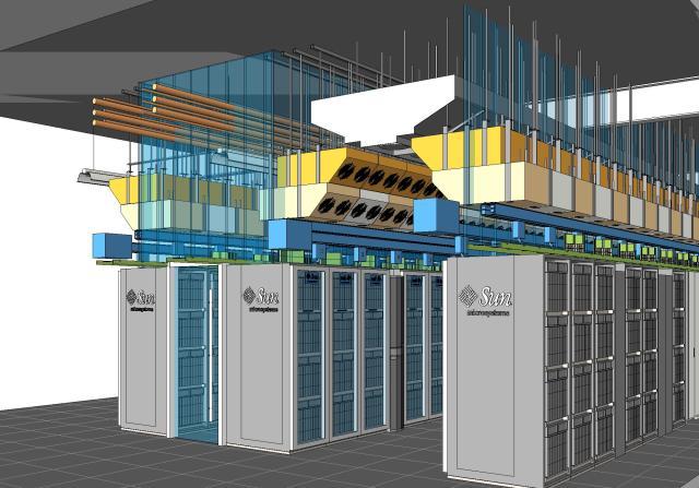 "Sun's ""Performance Optimized Datacenter"" (POD) BIM Model by WSA"