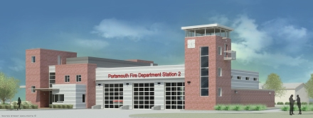 Portsmouth Fire Station Rendering