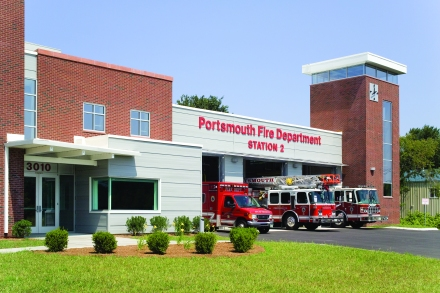 Portsmouth District 2 Fire Station - Exterior Front